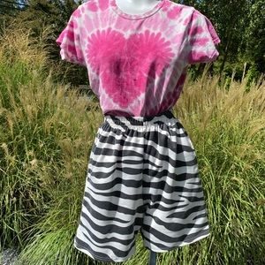 High rise shorts zebra